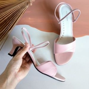 Vintage Deadstock Baby Pink Strappy Sandals